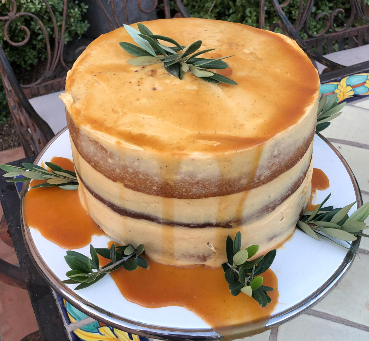 Pumpkin Salted Caramel Cake