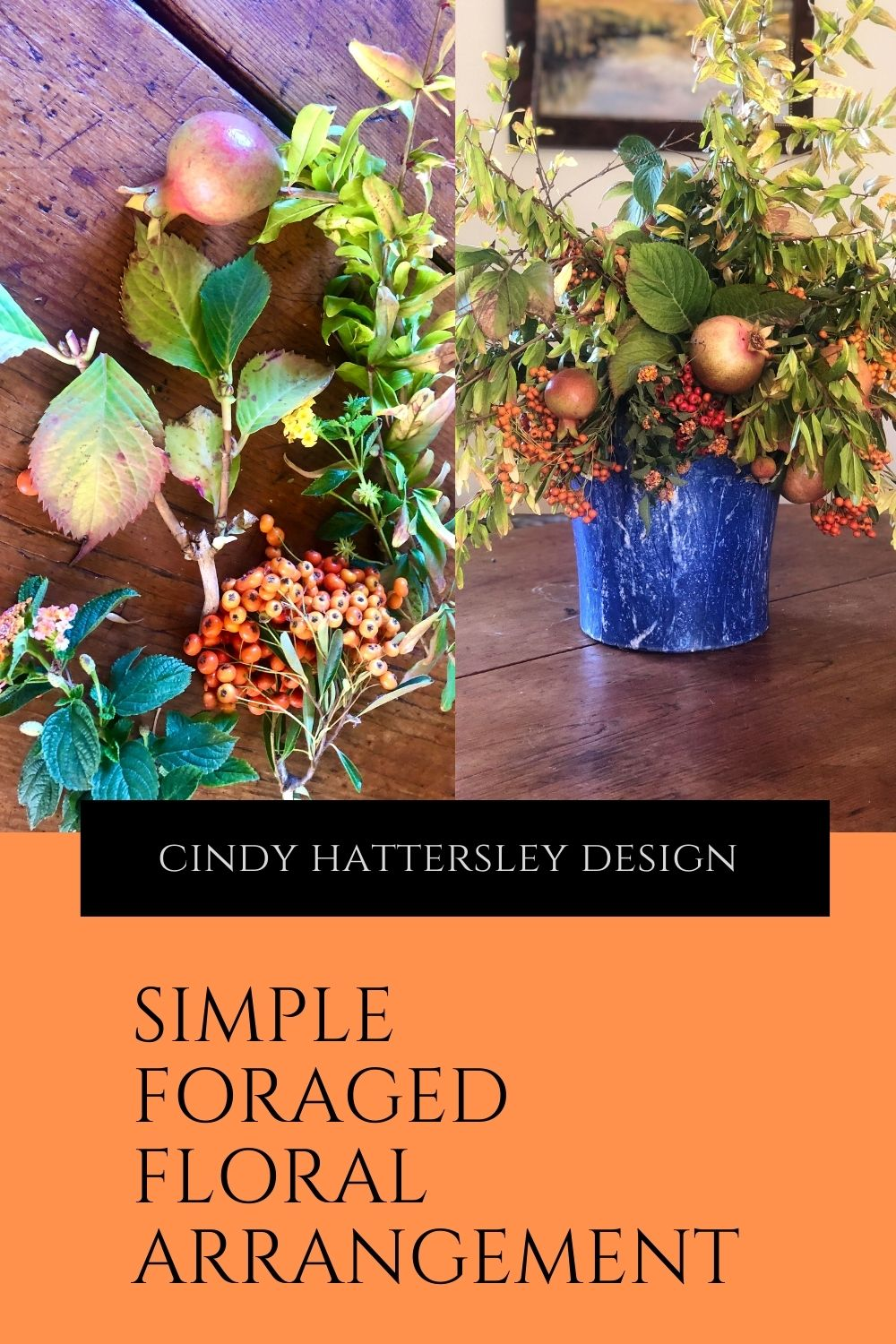 Cindy Hattersley's Cornbread Stuffing and DIY Foraged Floral Fall Arrangement