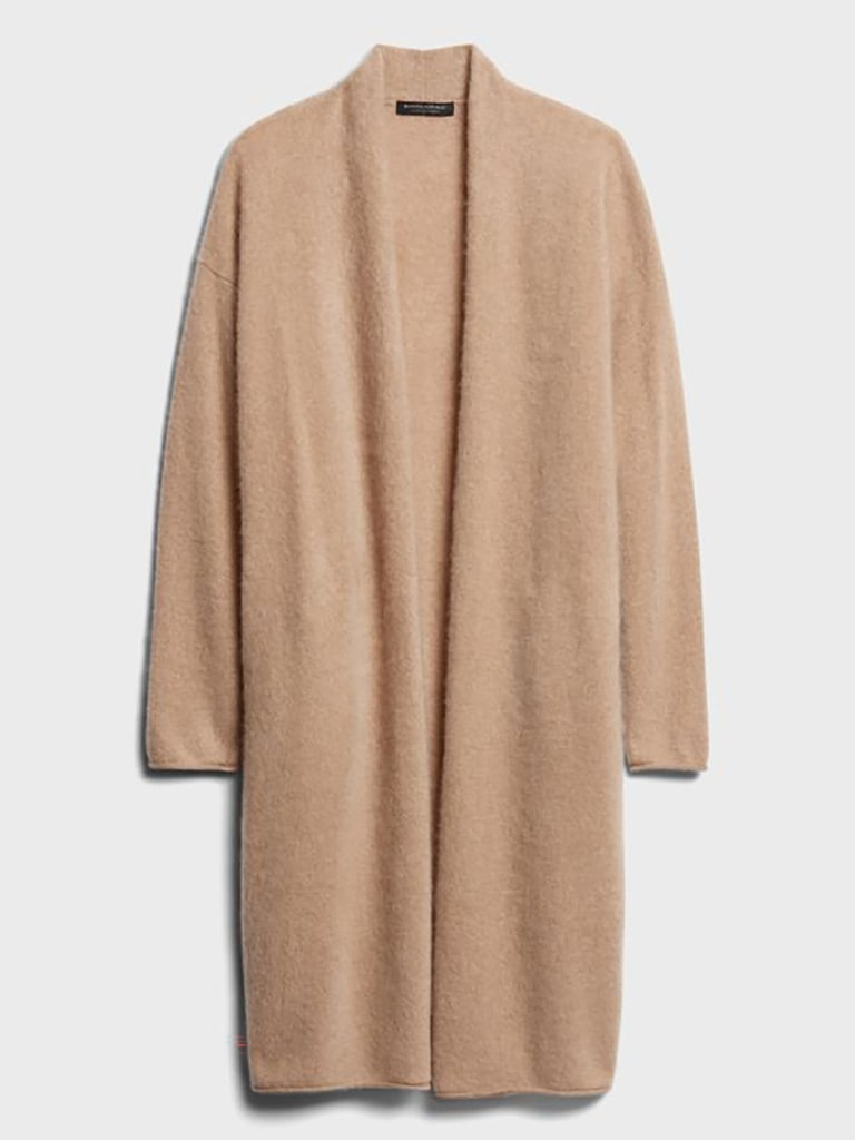 brushed cashmere duster 50% off Banana Republic