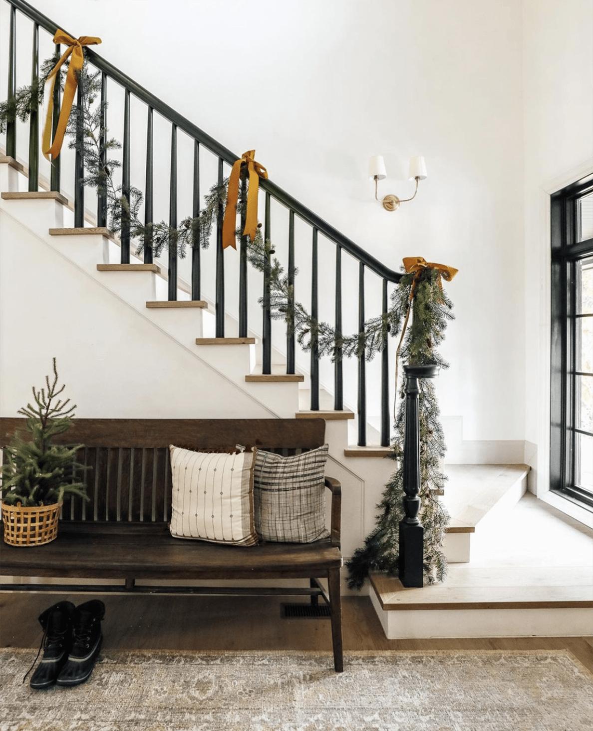 Chris Loves Julia Christmas Staircase on Cindy Hattersley's blog
