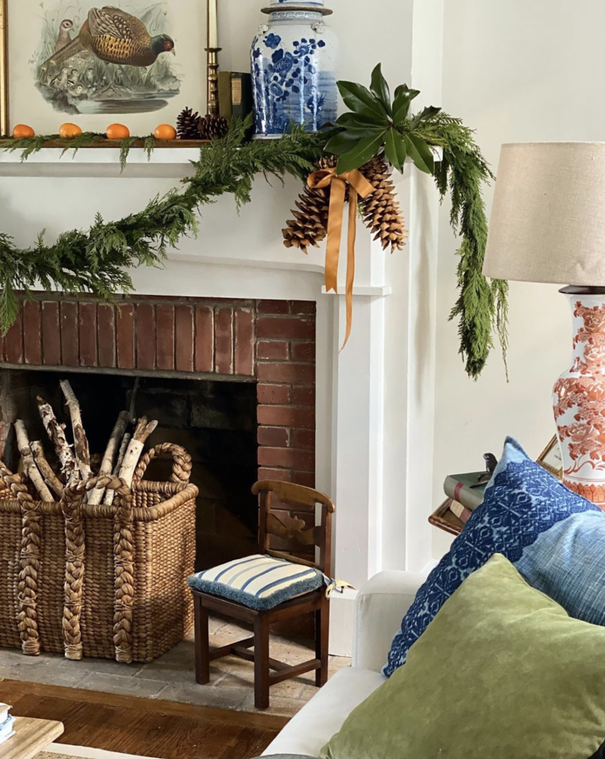 Dylan's fireplace on Cindy Hattersley's blog