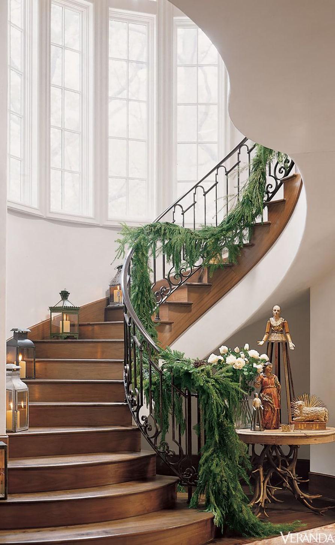 Pam Pierce Christmas Stairway via Veranda on Cindy Hattersley's blog