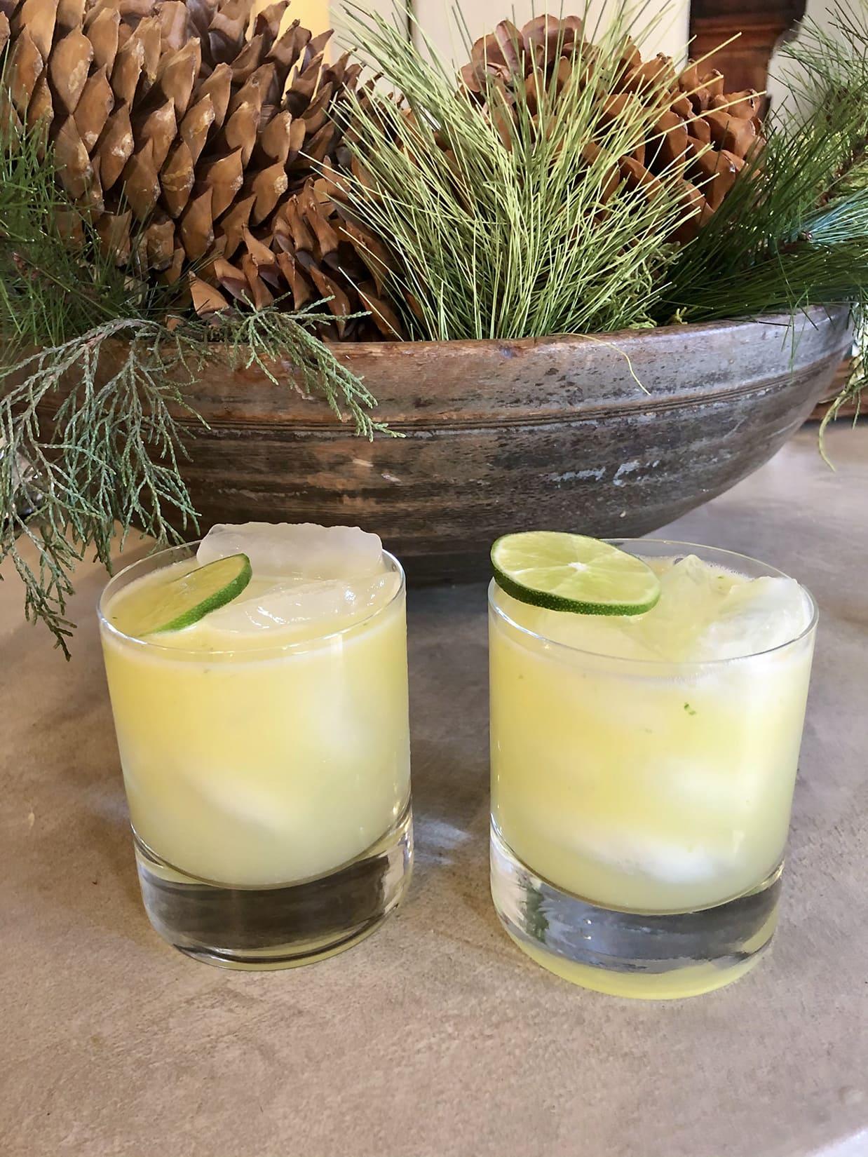 bobby flay's ginger beer margarita on Cindy Hattersley's blog