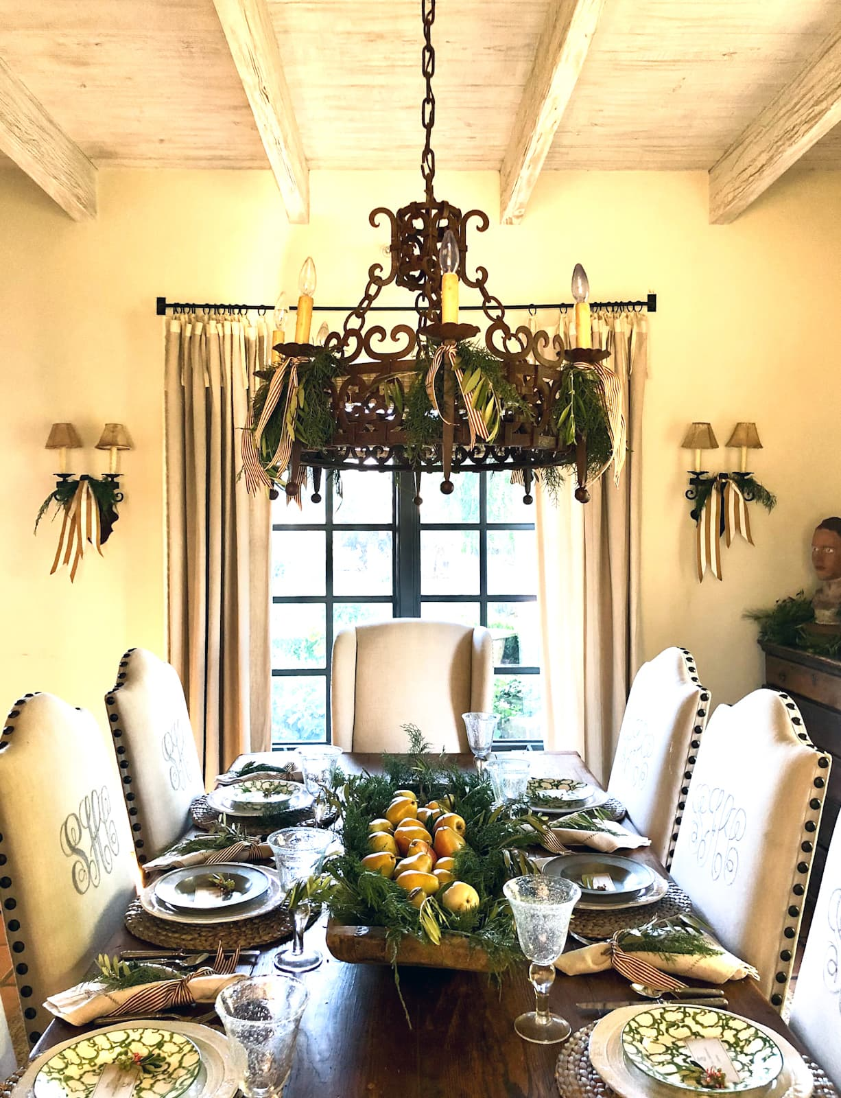 cindy hattersley's dining room christmas 2020