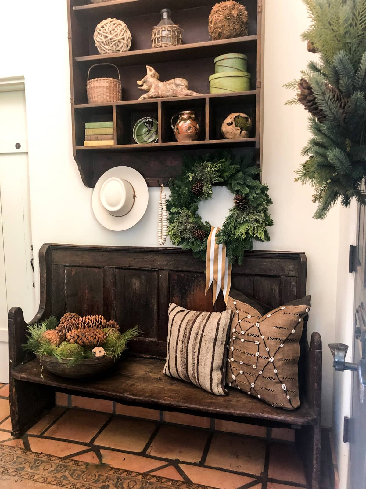 cindy hattersley's entry bench christmas 2020