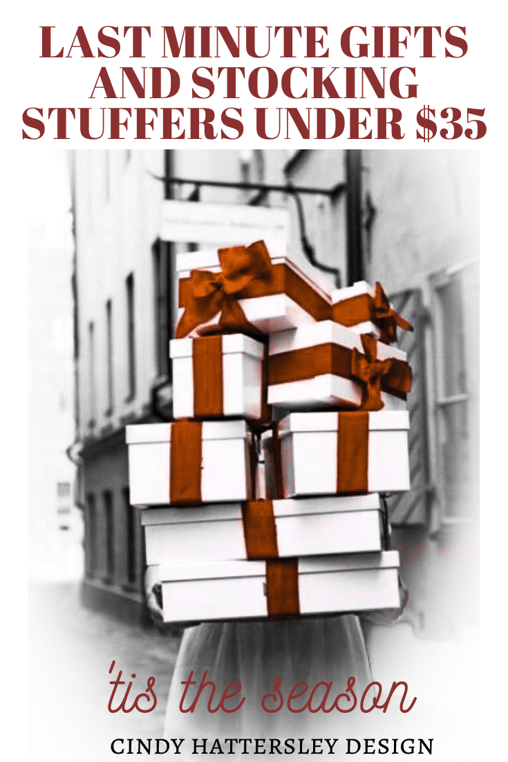 last mnute gifts and stocking stuffers under $35 Cindy Hattersley Design