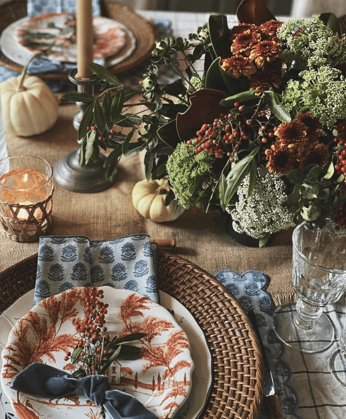 nine and sixteen tablescape on cindy hattersley's blog