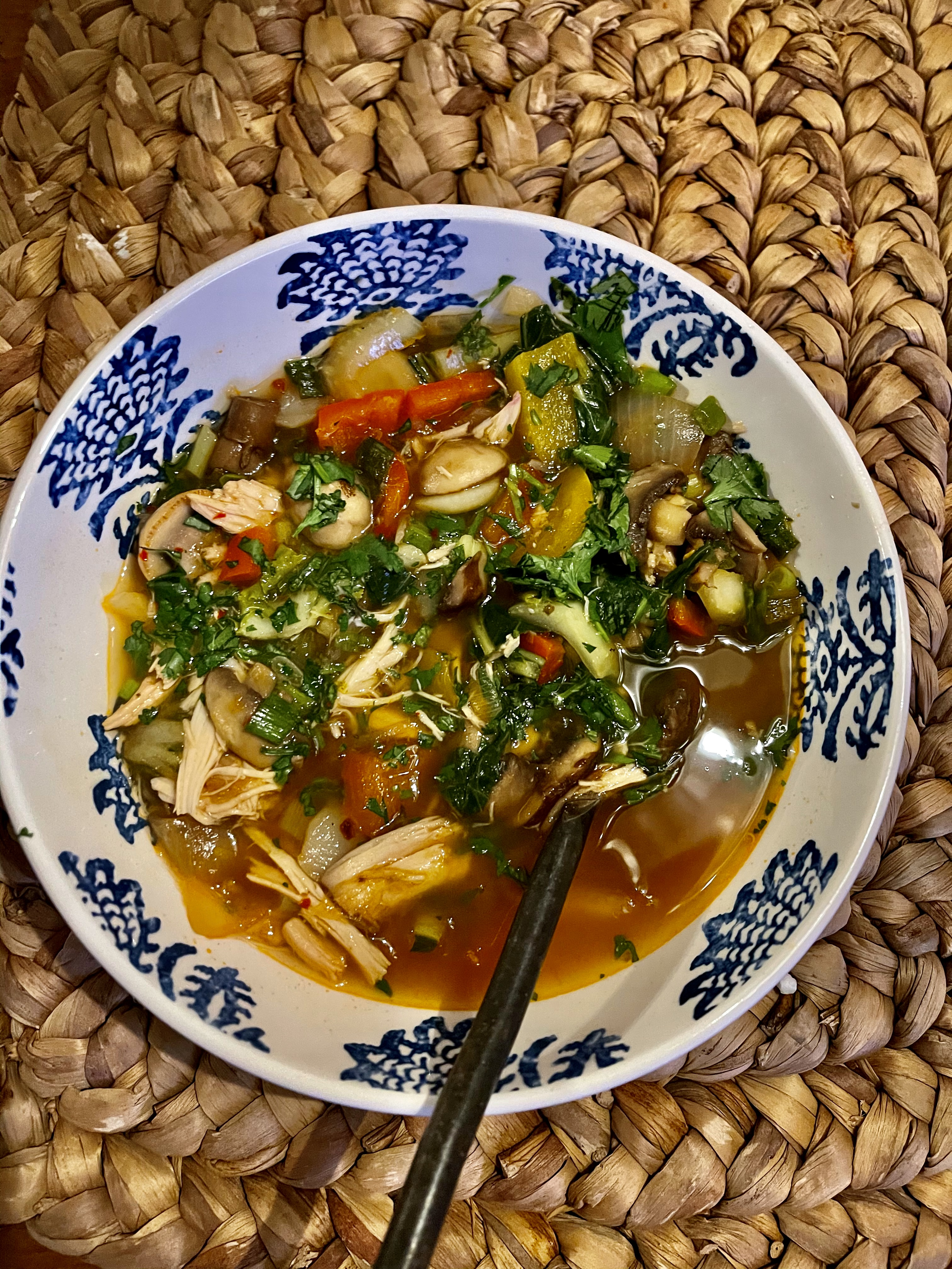 Weight Watchers Shrimp and Vegetable Soup with Lemongrass and Lime