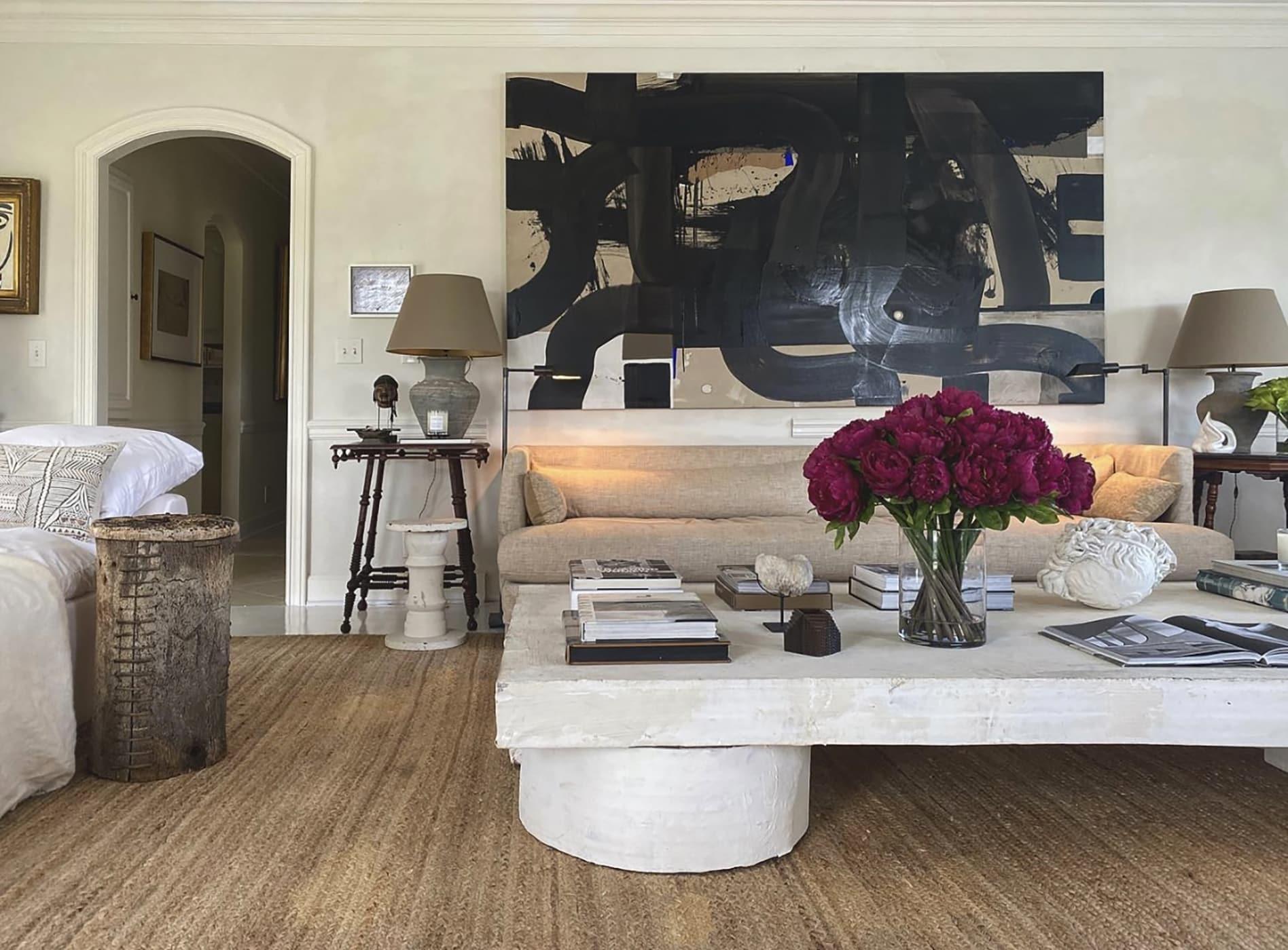 Artist William McClure's living room