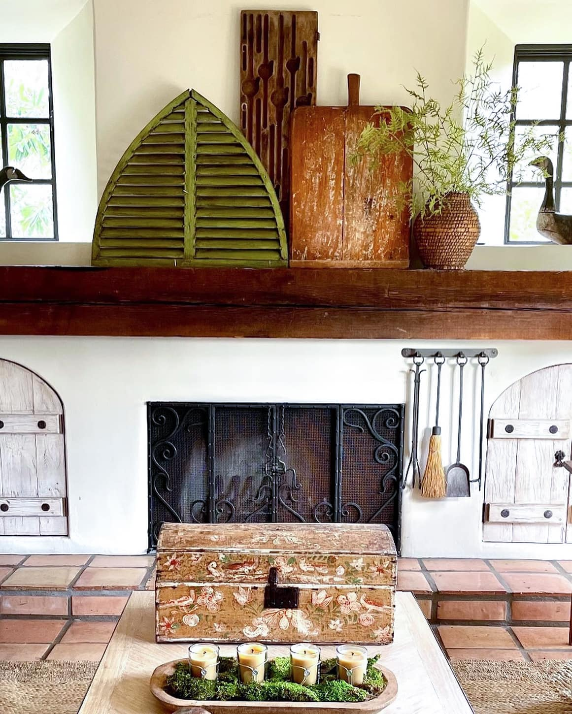 Cindy Hattersley's family room in her California home
