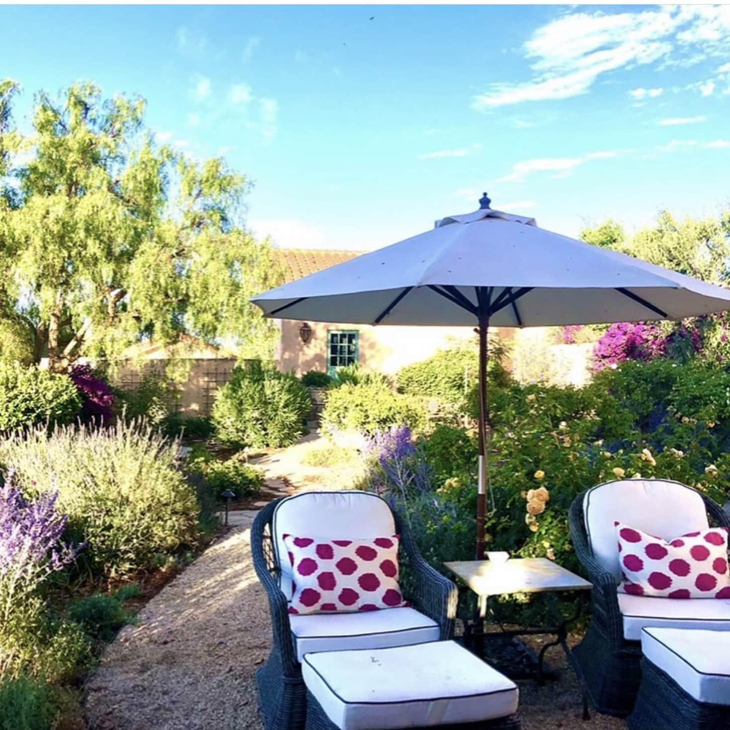 Designer Cindy Hattersley's Sitting Area in her Garden