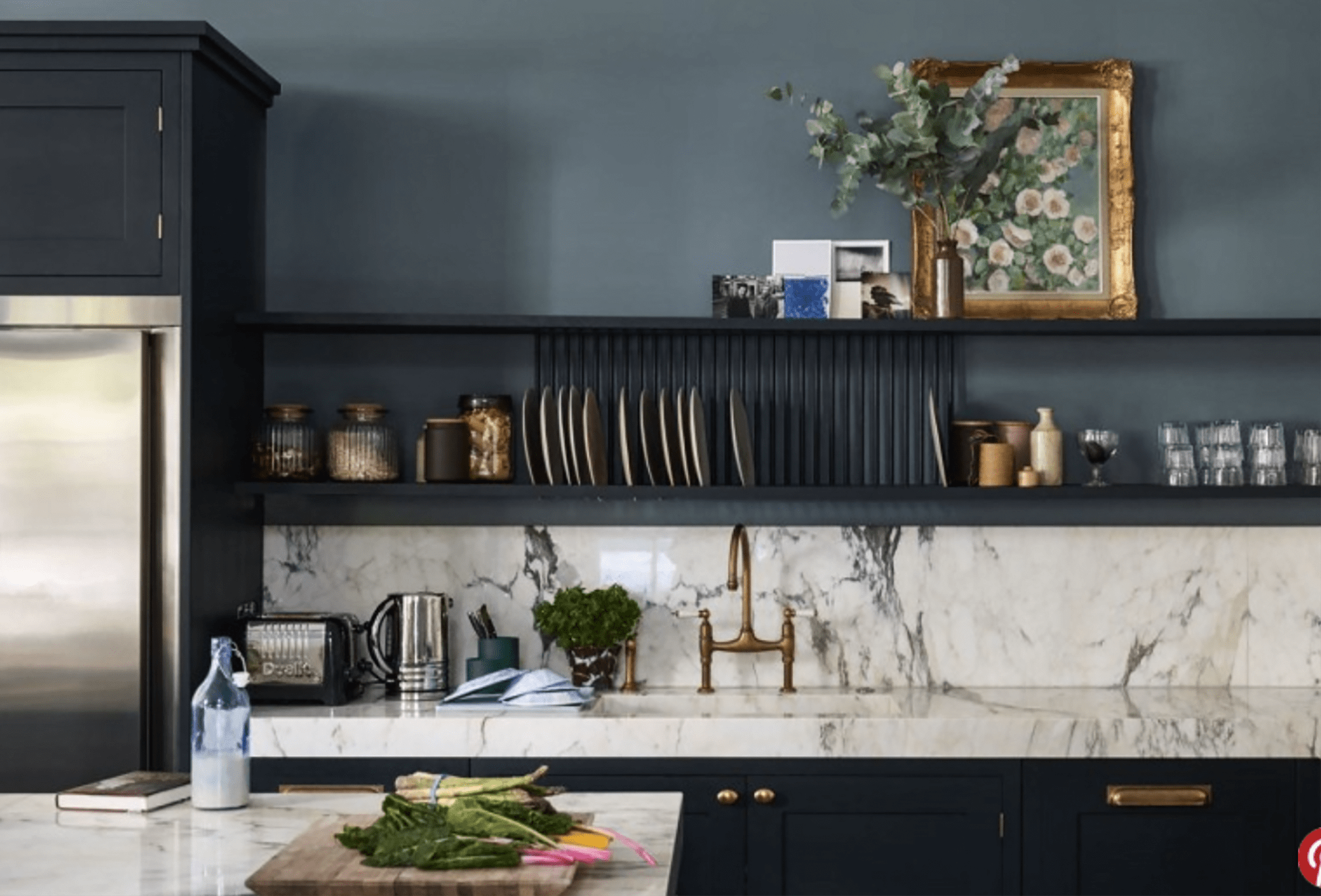 Farrow and Ball via Domino kitchen on Cindy Hattersley's blog