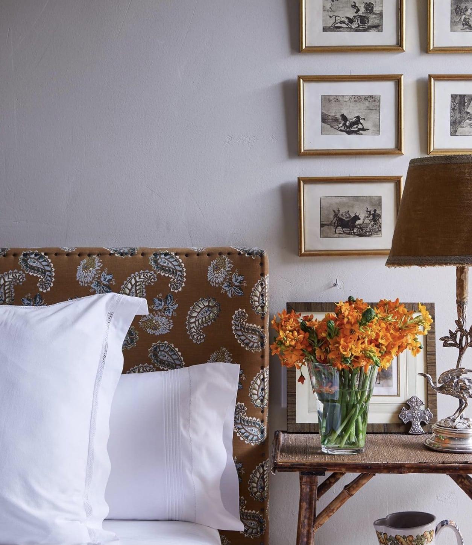 isabel lopez queseda designed bedroom on Cindy Hattersley's blog