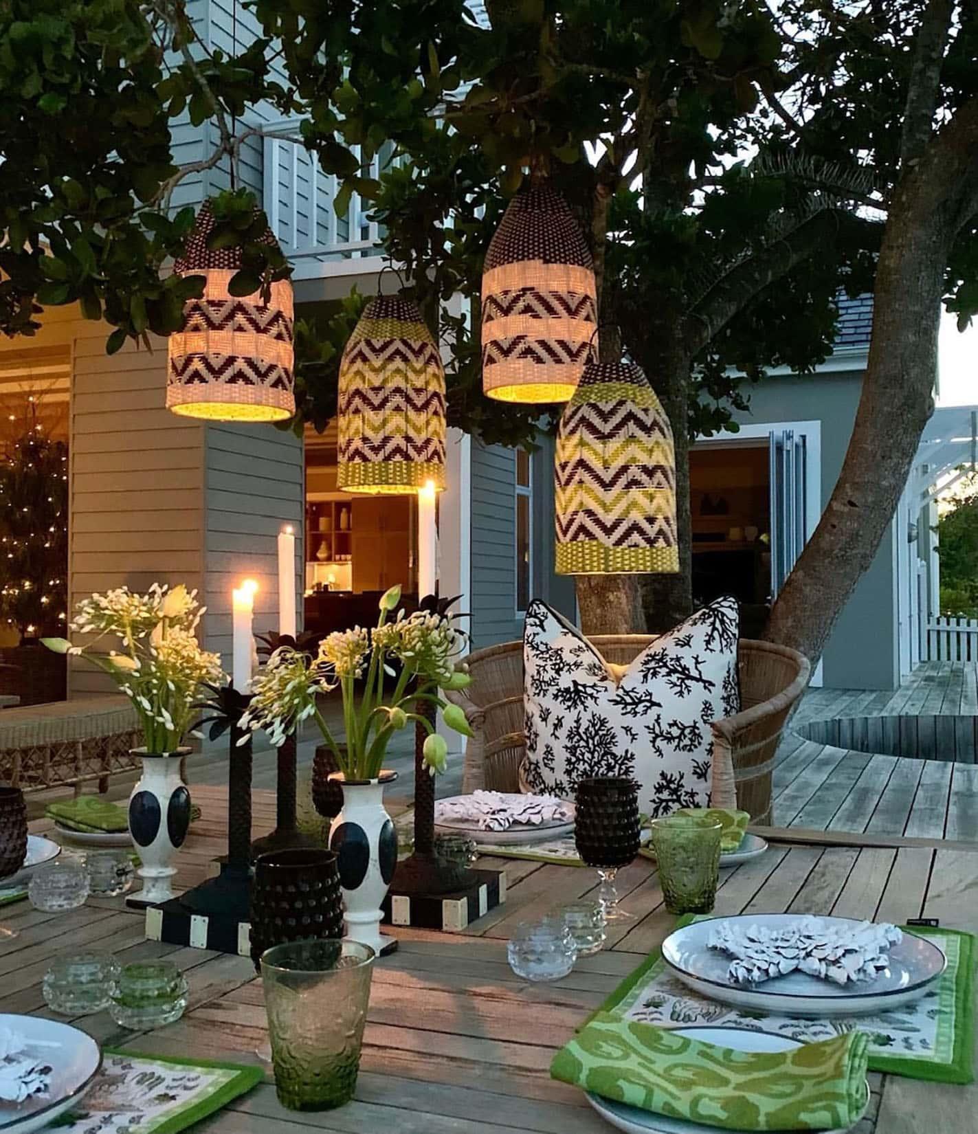 sue bond's south african veranda at night