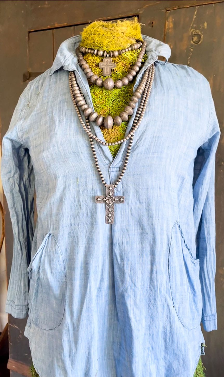 CP Shades Chambray Teton Tunic with American Indian Necklaces on Cindy Hattersley's blog