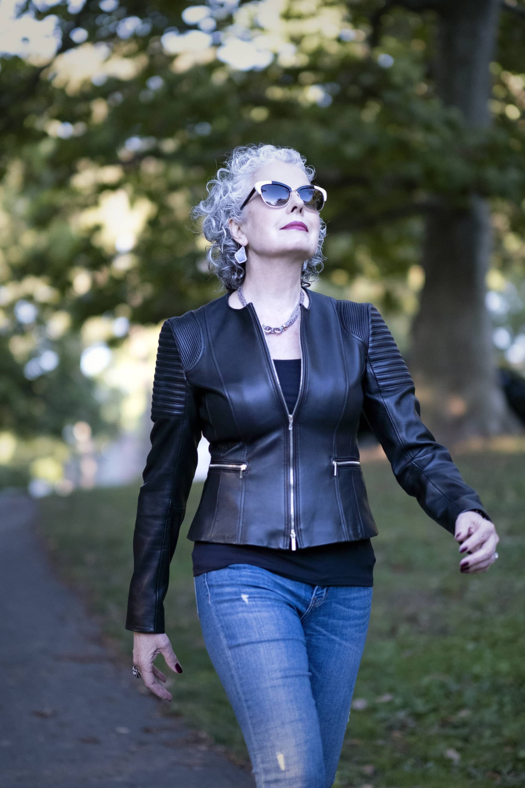 Kerry-Lou Henson in the Park featured on Ageless Style-Cindy Hattersley Design
