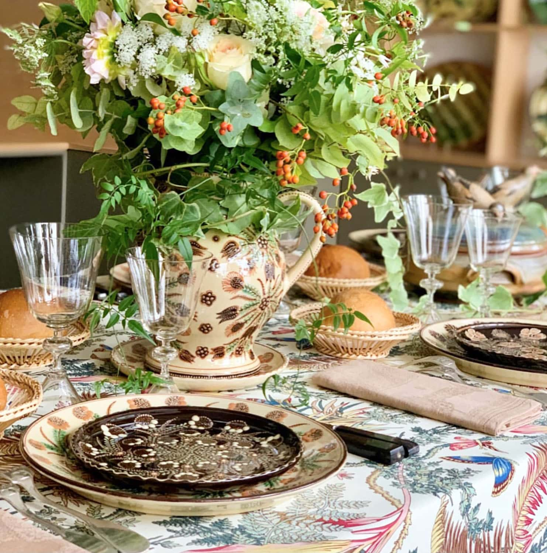 La Tuile de Loop tablescape featured on Cindy Hattersley's blog