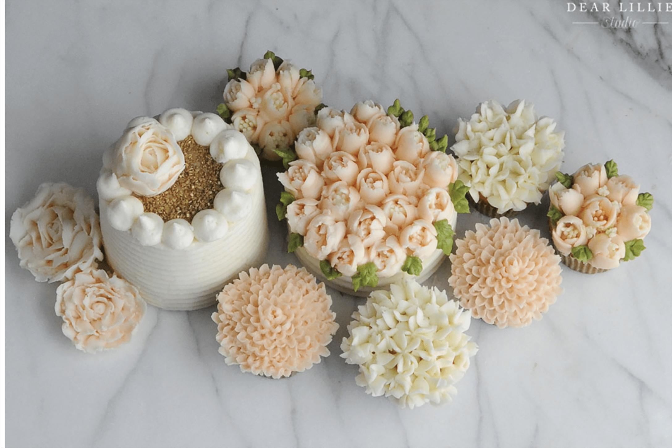 dear lillie tulip cupcakes on cindy hattersley's blog