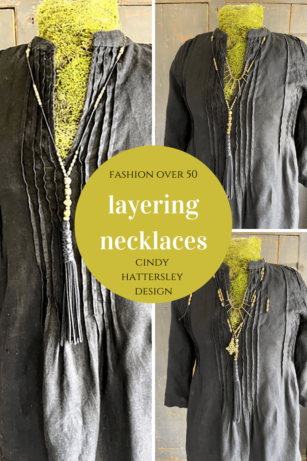 Black Layering Necklaces on Cindy Hattersley's blog