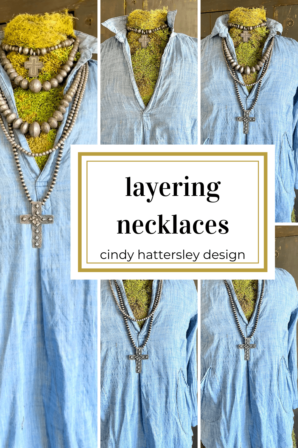 layering necklaces on cp shades cindy hattersley design