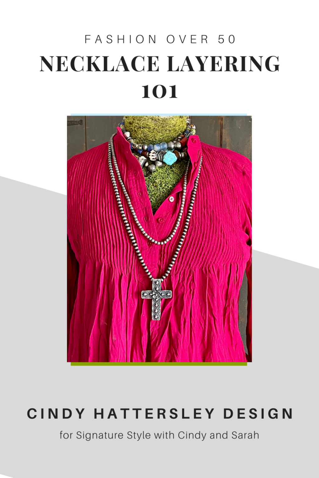 Necklace layering 101 on Cindy Hattersley's blog