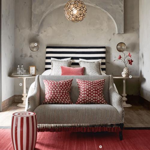 oka red and black bedroom on cindy hattersley's blog