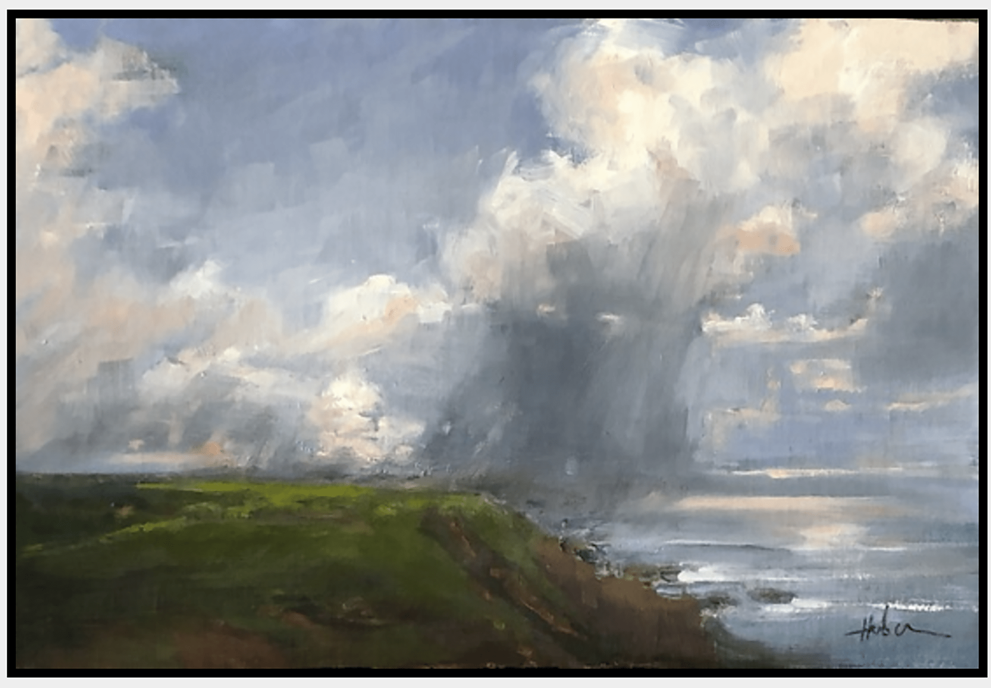 patricia huber quiet rain oil painting on cindy hattersley's blog