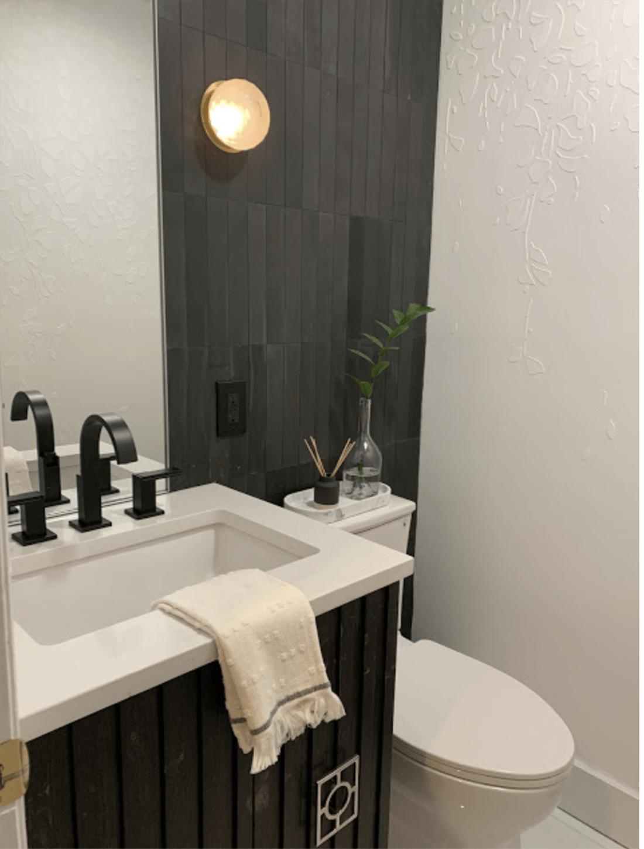 sherry hart bathroom styling on cindy hattersley's blog