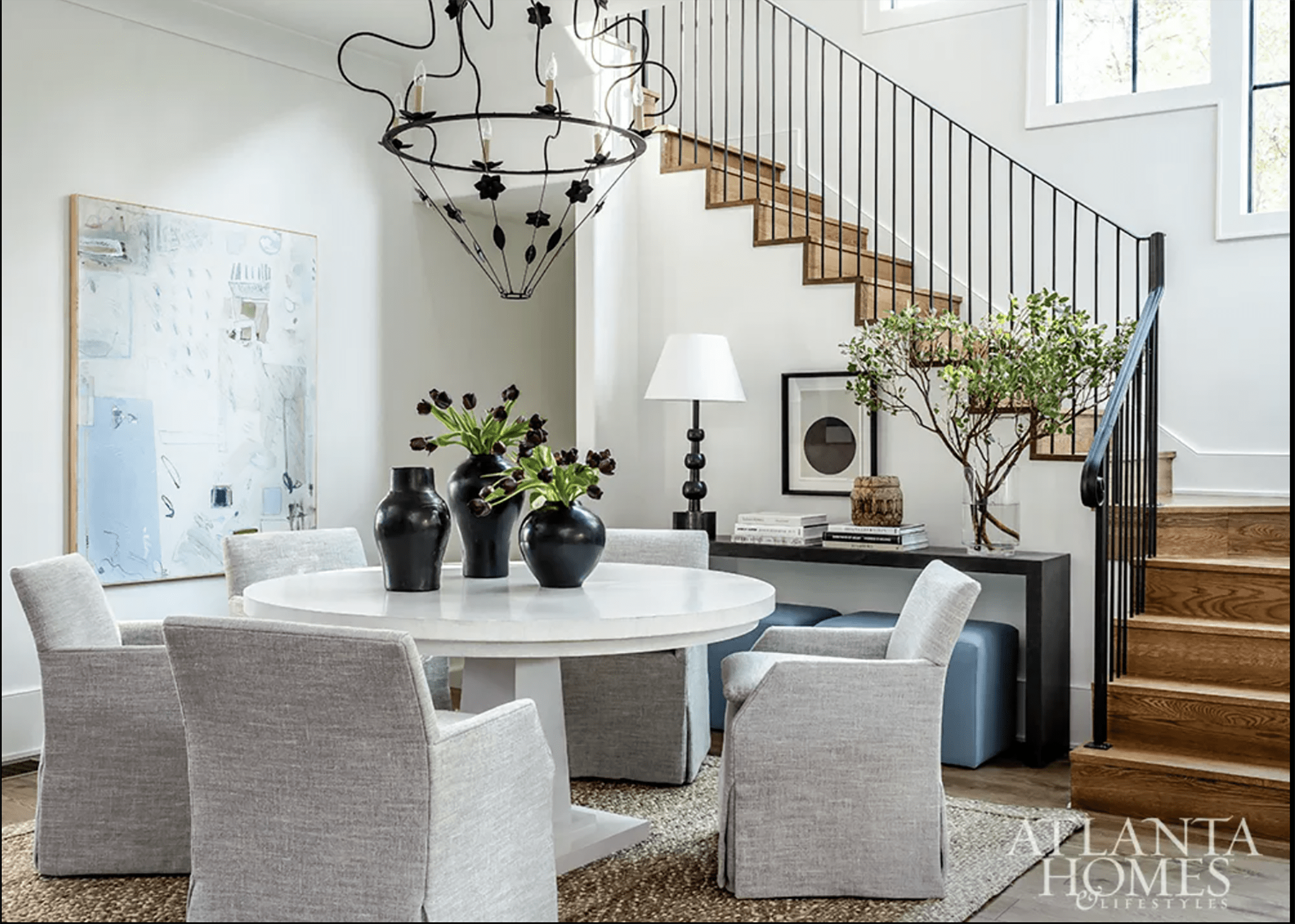 A Wooten Decorated Dining Space for Serenbe Showhouse