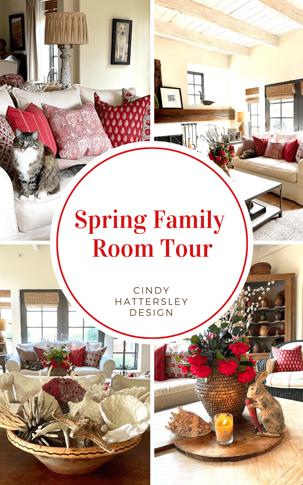 Spring Family Room Tour Cindy Hattersley