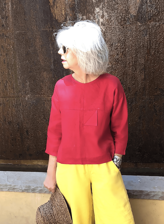 cindy hattersley in bright linen
