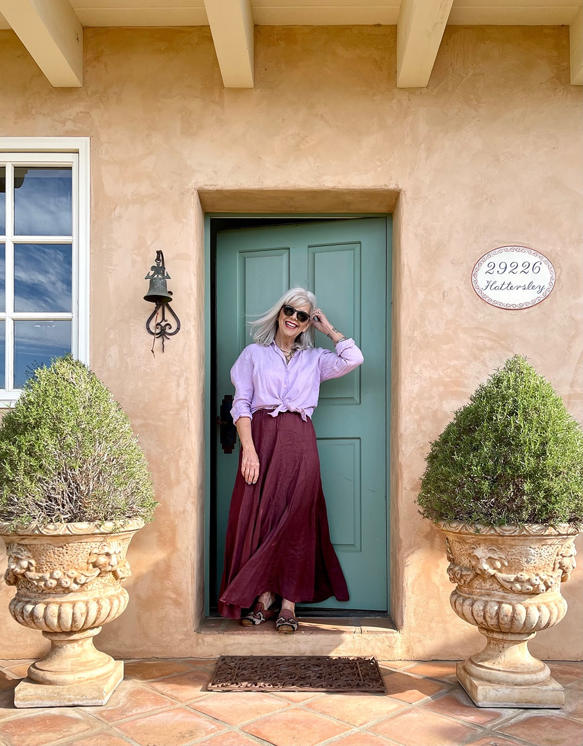 cindy hattersley in cp shades and artemis mules