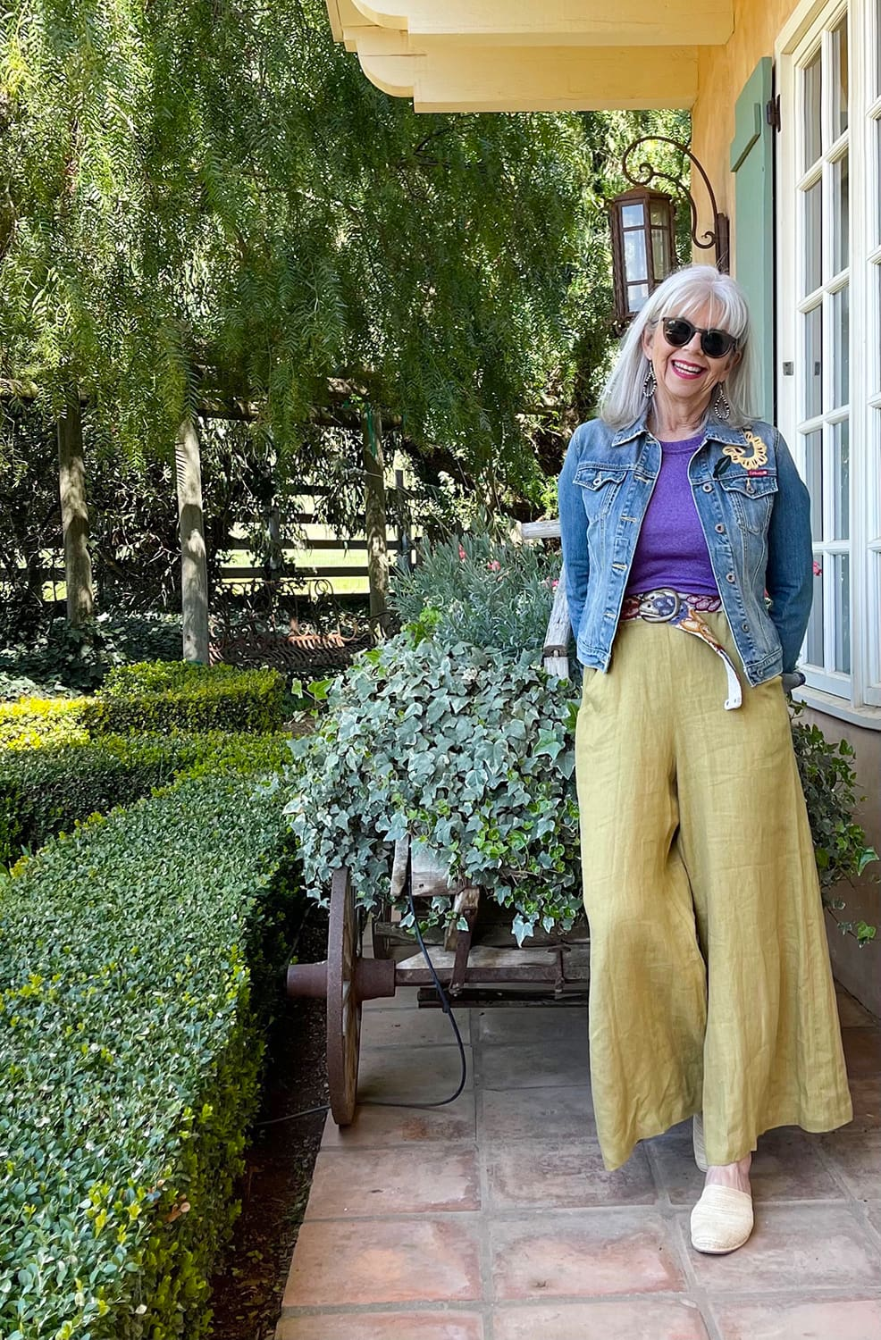 cindy hattersley in cp shades, michael stars and lucky brand jean jacket