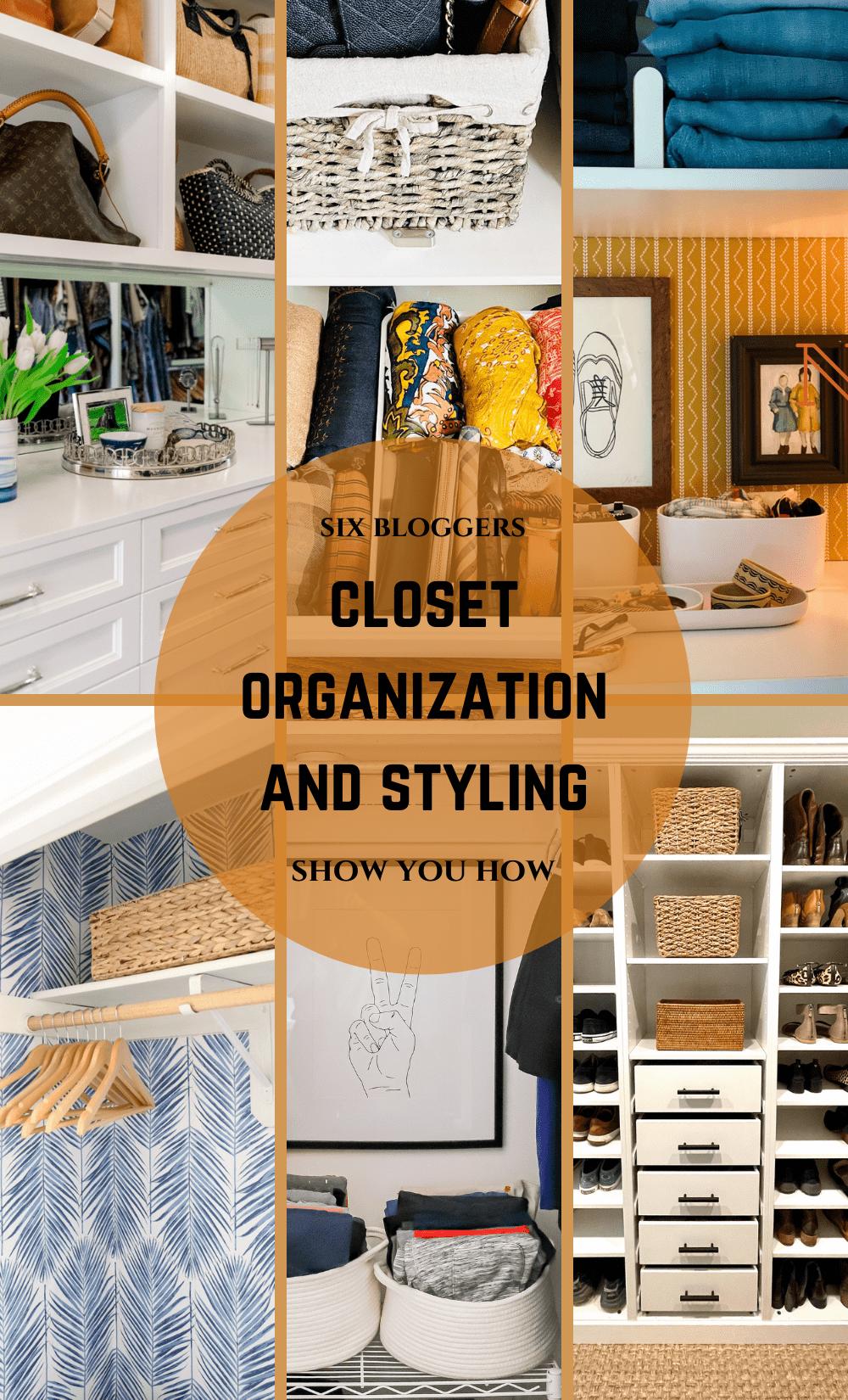 closet organization and styling