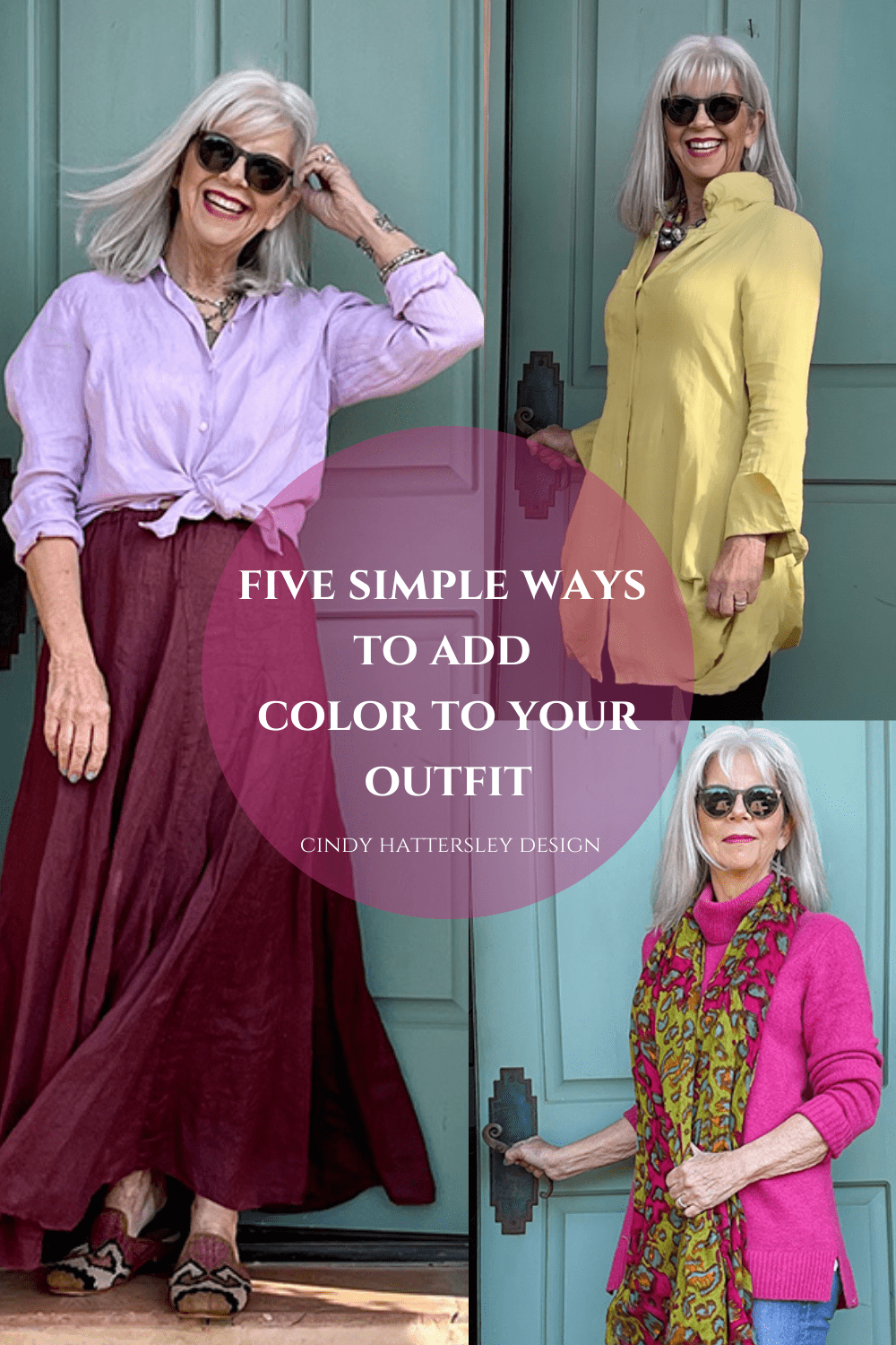five simple ways to add color to your outfit cindy hattersley design