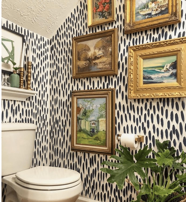 Beth Brown designed powder bath