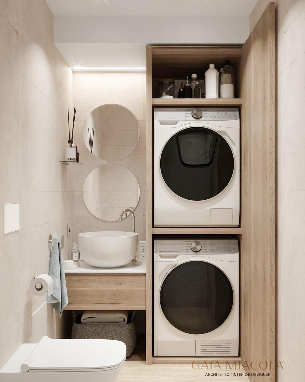 Architect Gia Miacola small bath design