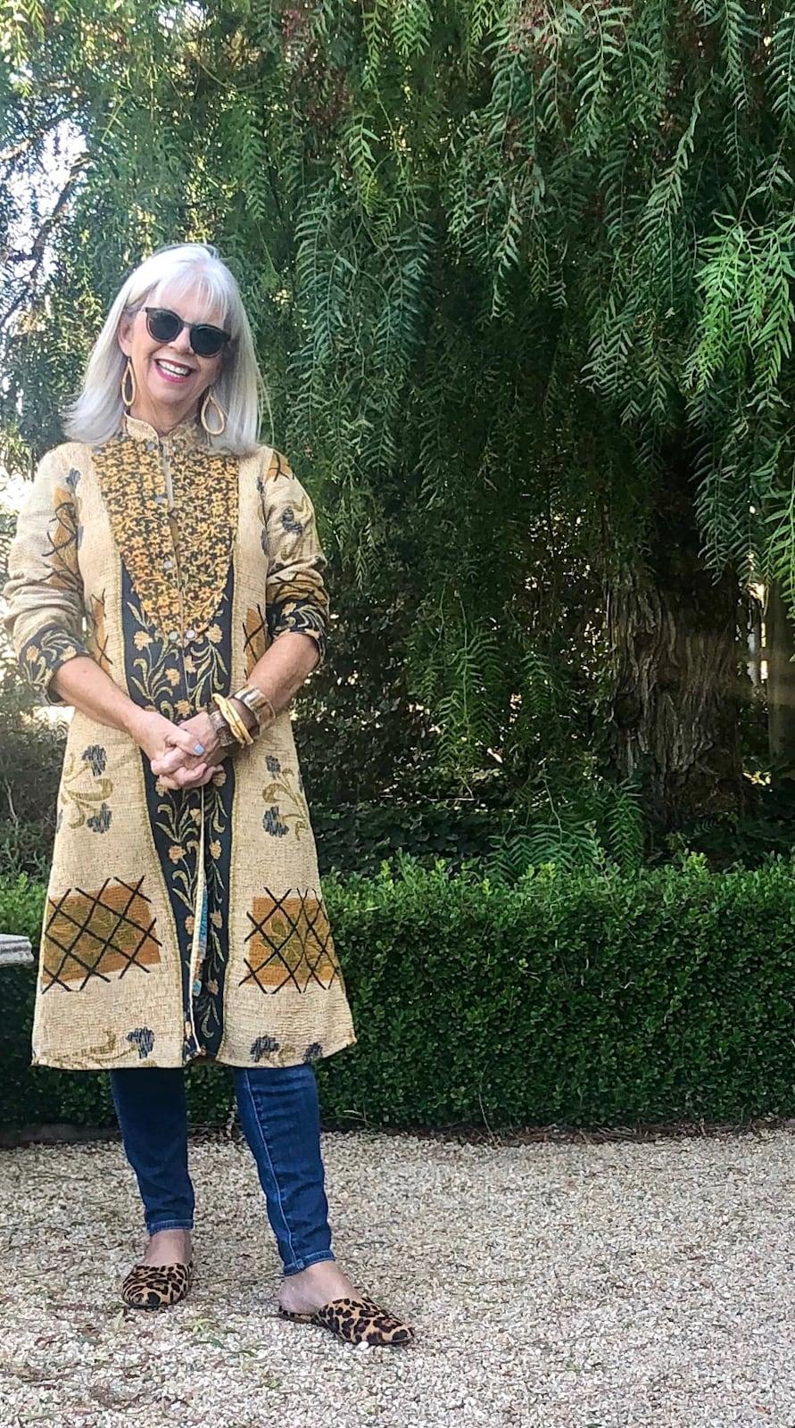 Cindy Hattersley in Kantha Coat