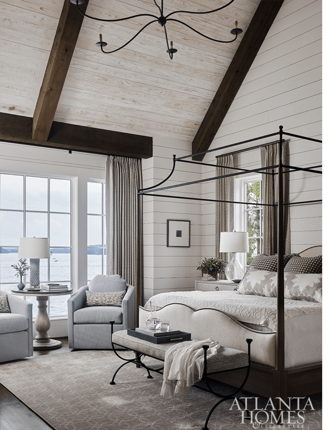 Atlanta Homes and Lifestyles Liz Williams Designed Bedroom
