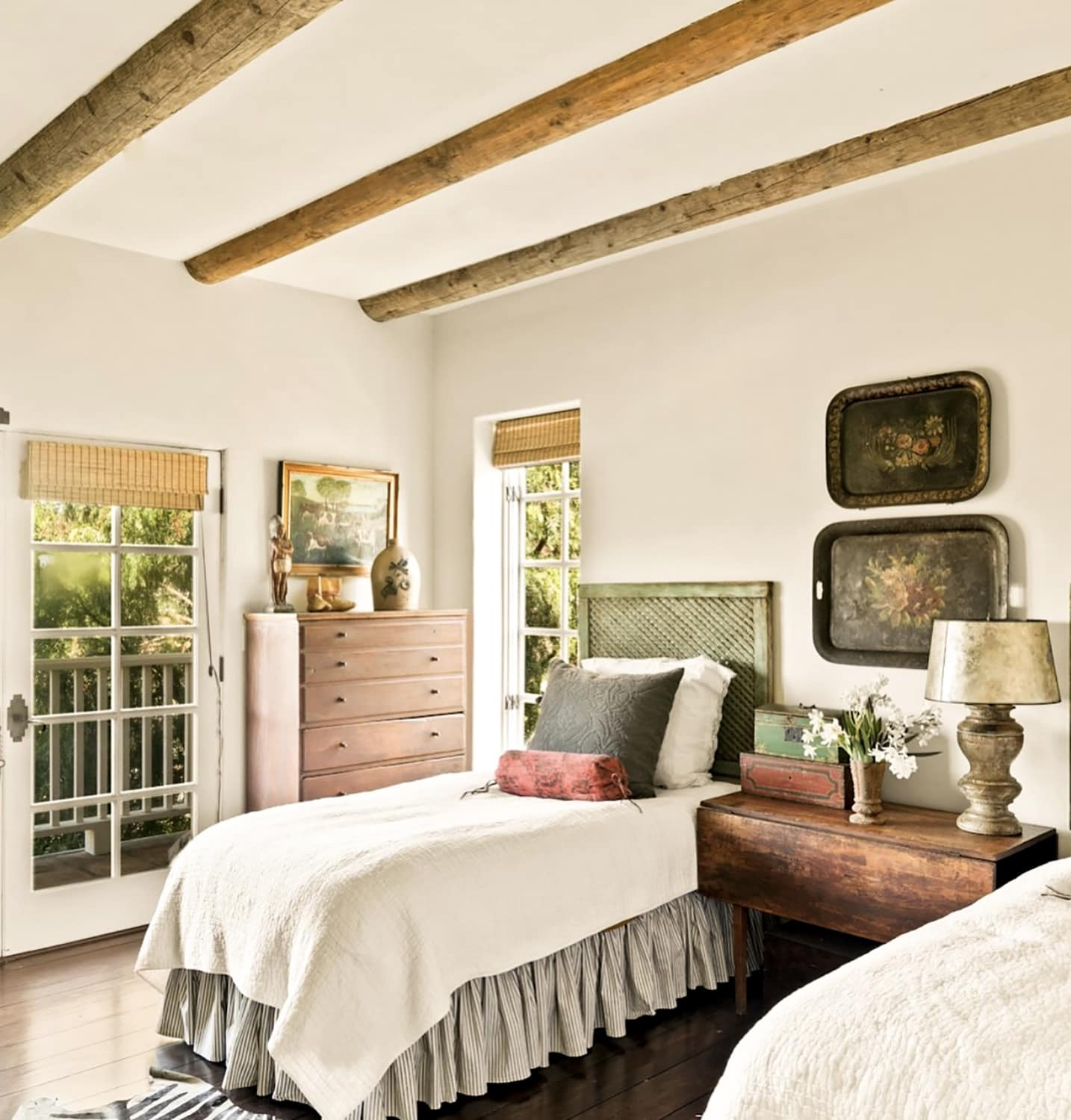 cindy hattersley's guest room in her spanish colonial home