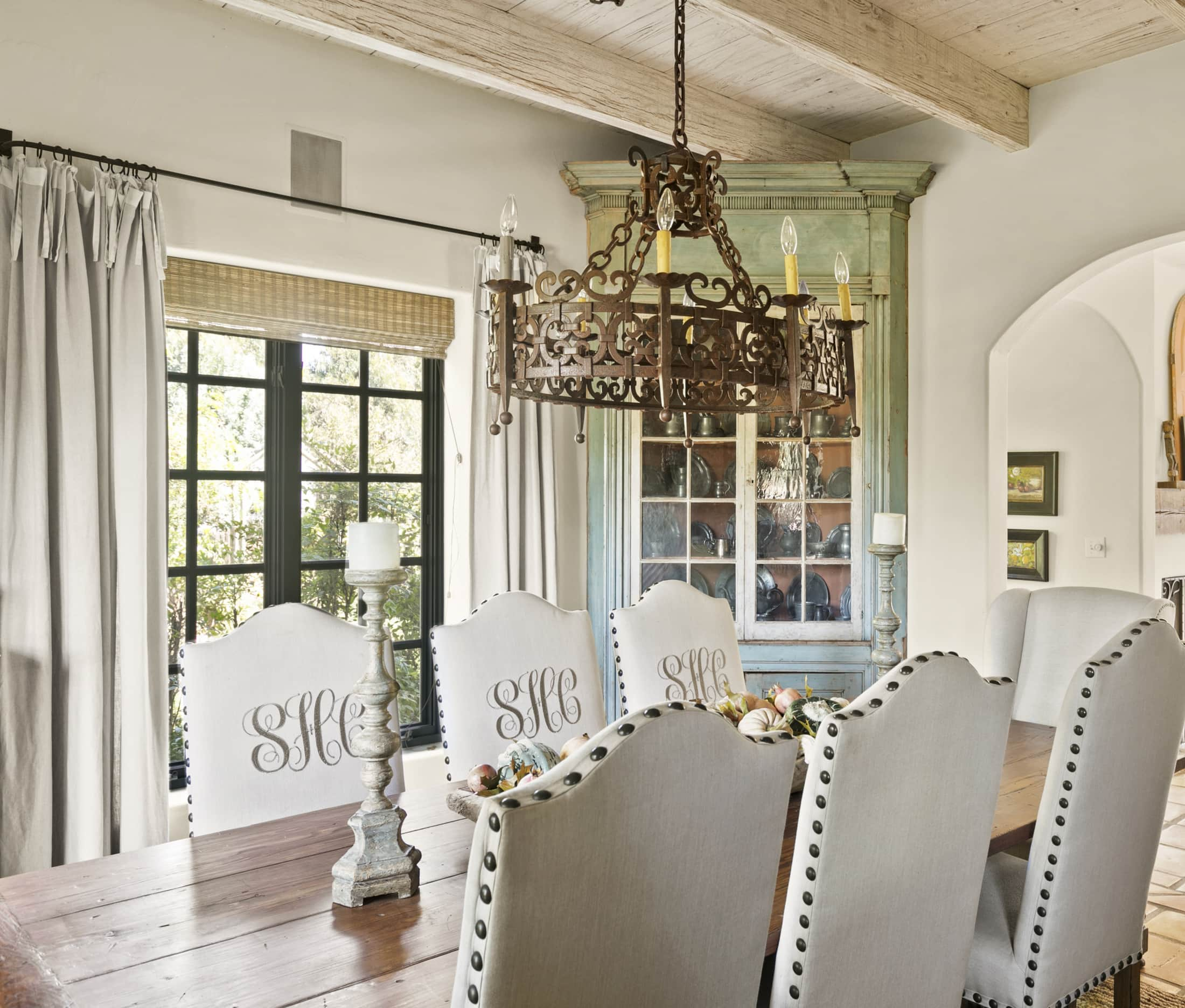 cindy hattersley's dining room in her spanish colonial