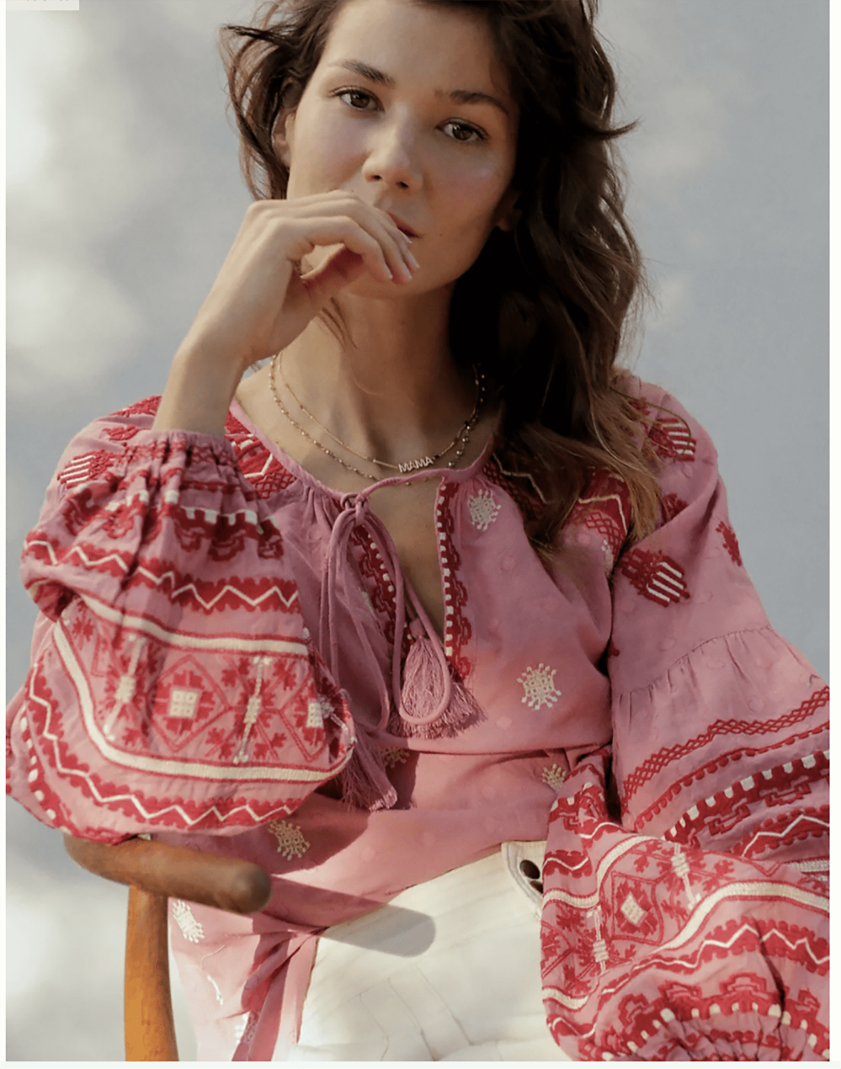 anthropologie layla embroidered blouse