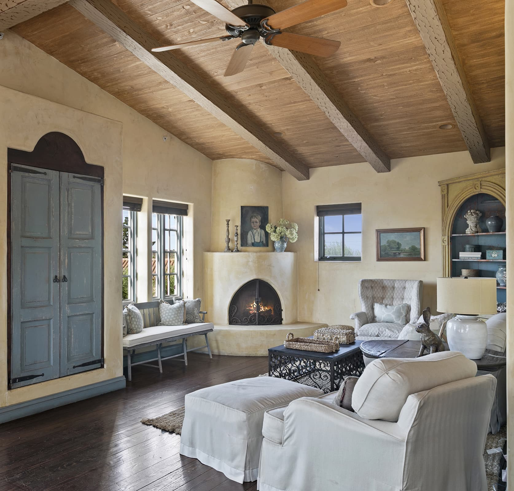 cindy hattersley's master bedroom in her spanish colonial