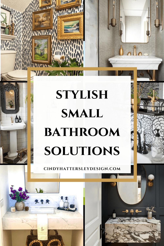 stylish small bathroom solutions