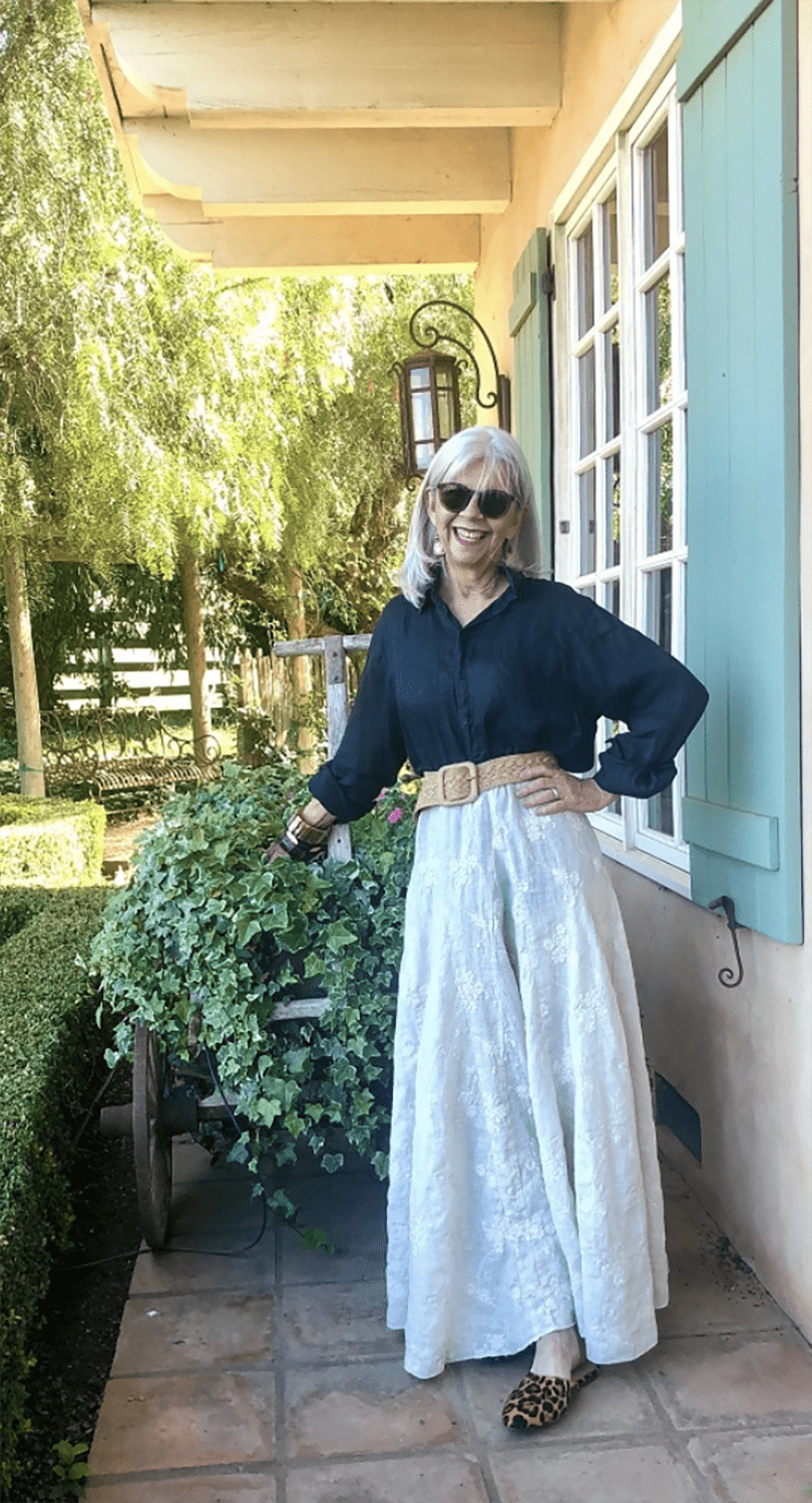 CINDY HATTERSLEY IN CP SHADES WHITE SKIRT