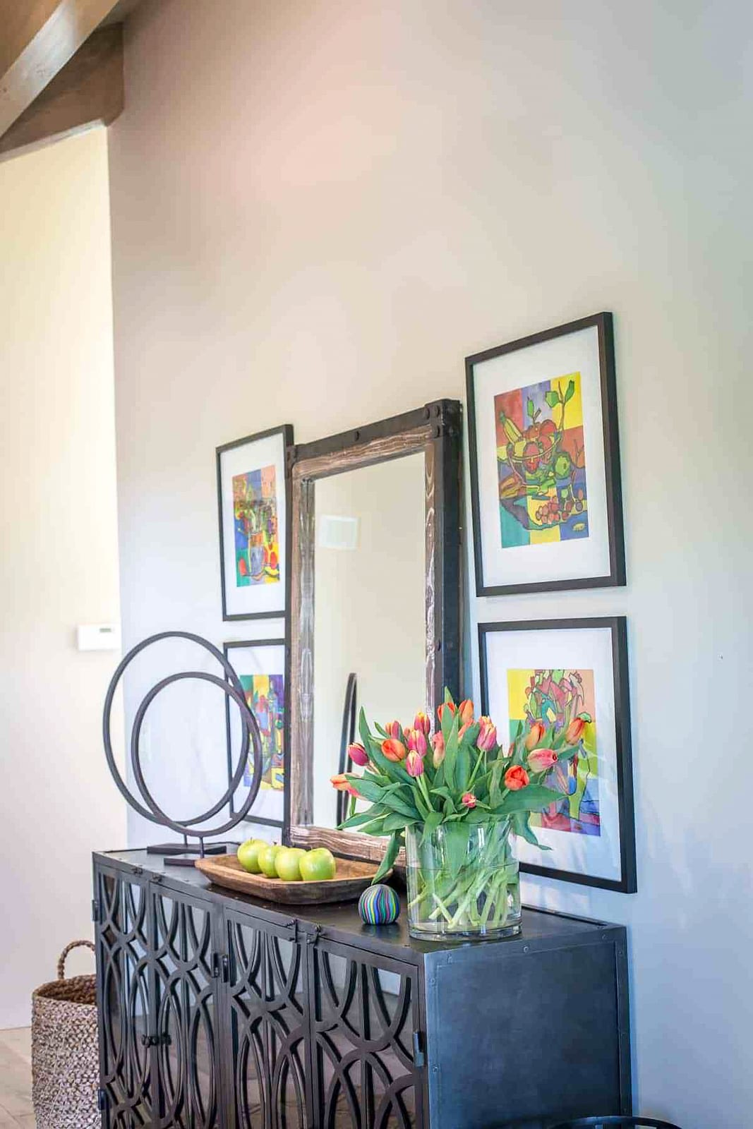 carmel valley entry console_ by cindy Hattersley