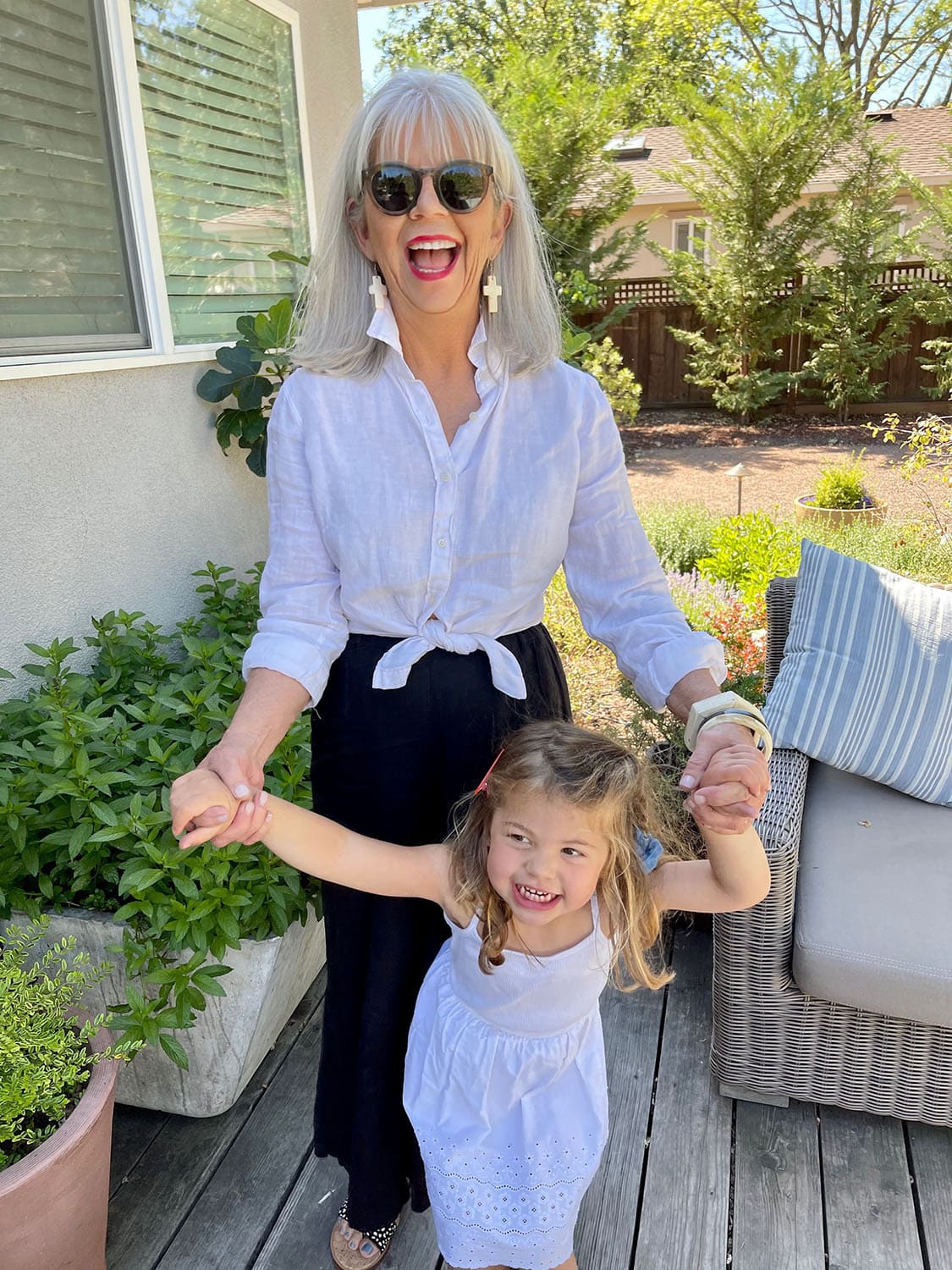 cindy hattersley in cp shades and j crew with granddaughter Summer