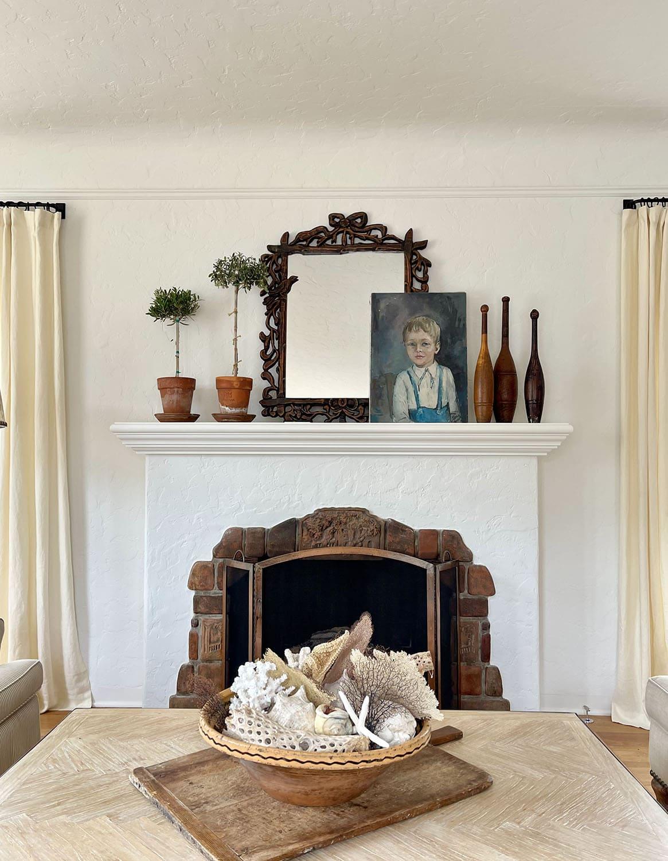 cindy hattersley's fireplace design in her fixer upper