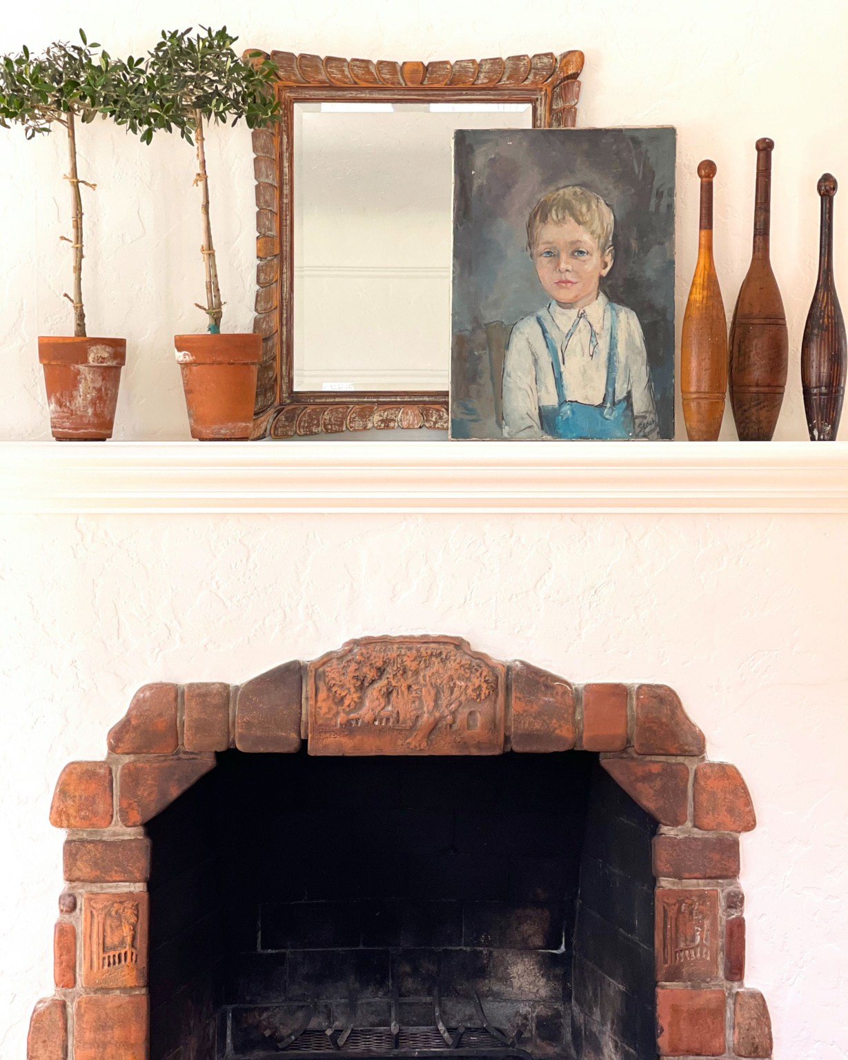 cindy hattersley's fireplace mantel
