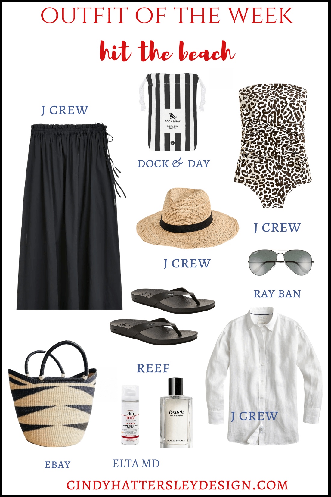 outfit of the week hit the beach